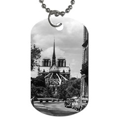 Vintage France Paris notre dame saint louis island 1970 Single-sided Dog Tag