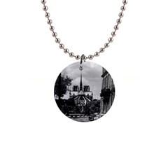 Vintage France Paris notre dame saint louis island 1970 Mini Button Necklace