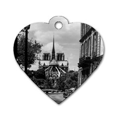 Vintage France Paris Notre Dame Saint Louis Island 1970 Twin Sided Dog Tag (heart)