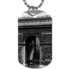 Vintage France Paris Triumphal Arch  Place De L etoile Single Sided Dog Tag