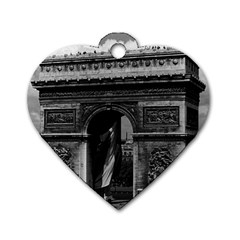 Vintage France Paris Triumphal arch  Place de l Etoile Single-sided Dog Tag (Heart)