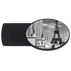Vintage France Paris Eiffel tour Chaillot palace 1970 2Gb USB Flash Drive (Oval)