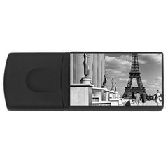 Vintage France Paris Eiffel Tour Chaillot Palace 1970 4gb Usb Flash Drive (rectangle)