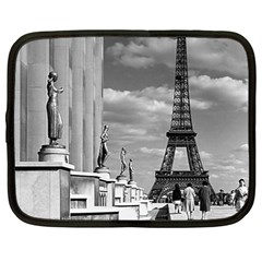 Vintage France Paris Eiffel tour Chaillot palace 1970 12  Netbook Case