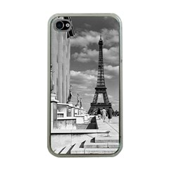 Vintage France Paris Eiffel tour Chaillot palace 1970 Apple iPhone 4 Case (Clear)