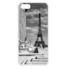 Vintage France Paris Eiffel Tour Chaillot Palace 1970 Apple Iphone 5 Seamless Case (white)
