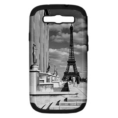Vintage France Paris Eiffel Tour Chaillot Palace 1970 Samsung Galaxy S Iii Hardshell Case (pc+silicone)