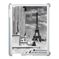 Vintage France Paris Eiffel tour Chaillot palace 1970 Apple iPad 3/4 Case (White)