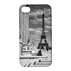 Vintage France Paris Eiffel tour Chaillot palace 1970 Apple iPhone 4/4S Hardshell Case with Stand
