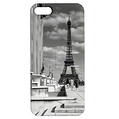 Vintage France Paris Eiffel Tour Chaillot Palace 1970 Apple Iphone 5 Hardshell Case With Stand