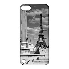 Vintage France Paris Eiffel Tour Chaillot Palace 1970 Apple Ipod Touch 5 Hardshell Case With Stand
