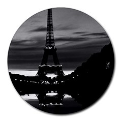 Vintage France Paris Eiffel tower reflection 1970 8  Mouse Pad (Round)