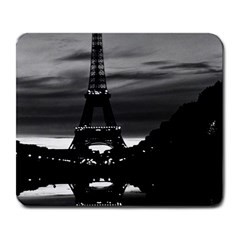 Vintage France Paris Eiffel Tower Reflection 1970 Large Mouse Pad (rectangle)