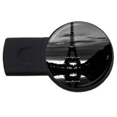 Vintage France Paris Eiffel tower reflection 1970 4Gb USB Flash Drive (Round)