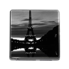 Vintage France Paris Eiffel Tower Reflection 1970 Card Reader With Storage (square)