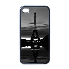 Vintage France Paris Eiffel tower reflection 1970 Black Apple iPhone 4 Case