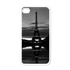 Vintage France Paris Eiffel Tower Reflection 1970 White Apple Iphone 4 Case