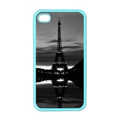Vintage France Paris Eiffel tower reflection 1970 Apple iPhone 4 Case (Color)