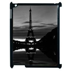 Vintage France Paris Eiffel tower reflection 1970 Apple iPad 2 Case (Black)