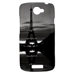 Vintage France Paris Eiffel tower reflection 1970 HTC One S Hardshell Case
