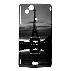 Vintage France Paris Eiffel tower reflection 1970 Sony Xperia Arc Hardshell Case