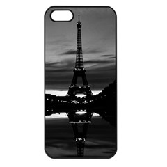 Vintage France Paris Eiffel tower reflection 1970 Apple iPhone 5 Seamless Case (Black)