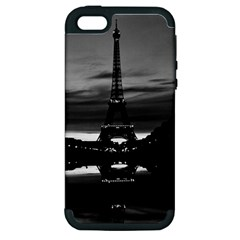 Vintage France Paris Eiffel tower reflection 1970 Apple iPhone 5 Hardshell Case (PC+Silicone)