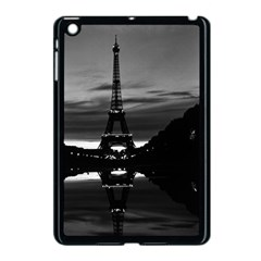 Vintage France Paris Eiffel Tower Reflection 1970 Apple Ipad Mini Case (black)