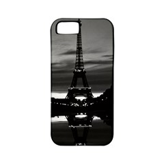 Vintage France Paris Eiffel Tower Reflection 1970 Apple Iphone 5 Classic Hardshell Case (pc+silicone)