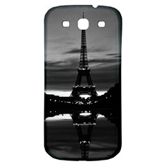 Vintage France Paris Eiffel Tower Reflection 1970 Samsung Galaxy S3 S Iii Classic Hardshell Back Case