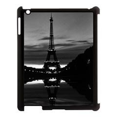 Vintage France Paris Eiffel Tower Reflection 1970 Apple Ipad 3/4 Case (black)