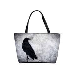 Black Crow Large Shoulder Bag