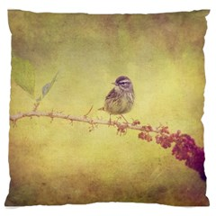 Palm Warbler Large Cushion Case (two Sides)