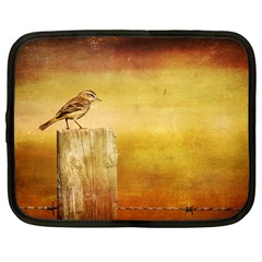 Bird On A Fence 12  Netbook Case