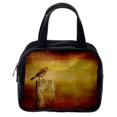 Bird On A Fence Single-sided Satchel Handbag