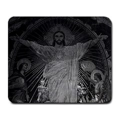 Vintage France Paris Sacre Coeur Basilica Dome Jesus Large Mouse Pad (rectangle)