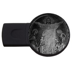 Vintage France Paris Sacre Coeur Basilica Dome Jesus 2gb Usb Flash Drive (round)