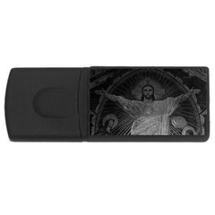 Vintage France Paris Sacre Coeur Basilica dome Jesus 4Gb USB Flash Drive (Rectangle)