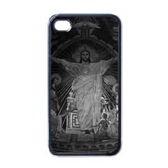 Vintage France Paris Sacre Coeur Basilica dome Jesus Black Apple iPhone 4 Case