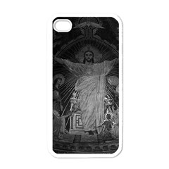 Vintage France Paris Sacre Coeur Basilica dome Jesus White Apple iPhone 4 Case