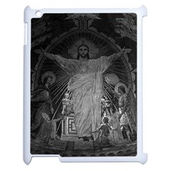 Vintage France Paris Sacre Coeur Basilica dome Jesus Apple iPad 2 Case (White)