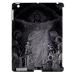 Vintage France Paris Sacre Coeur Basilica dome Jesus Apple iPad 3/4 Hardshell Case (Compatible with Smart Cover)