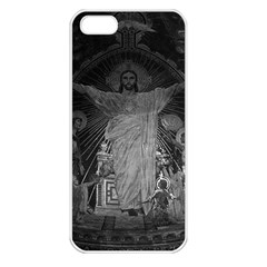 Vintage France Paris Sacre Coeur Basilica Dome Jesus Apple Iphone 5 Seamless Case (white)