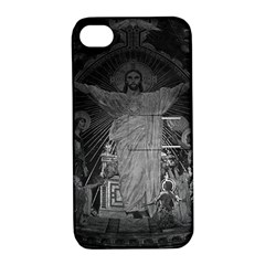 Vintage France Paris Sacre Coeur Basilica dome Jesus Apple iPhone 4/4S Hardshell Case with Stand