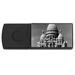 Vintage France Paris The Sacre Coeur Basilica 1970 1Gb USB Flash Drive (Rectangle)