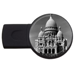 Vintage France Paris The Sacre Coeur Basilica 1970 4gb Usb Flash Drive (round)