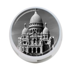 Vintage France Paris The Sacre Coeur Basilica 1970 Single-sided 4 Port USB Hub (Round)
