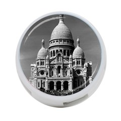 Vintage France Paris The Sacre Coeur Basilica 1970 Twin-sided 4 Port USB Hub (Round)