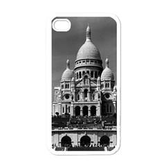 Vintage France Paris The Sacre Coeur Basilica 1970 White Apple iPhone 4 Case