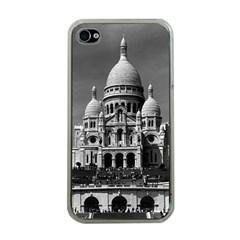 Vintage France Paris The Sacre Coeur Basilica 1970 Apple iPhone 4 Case (Clear)